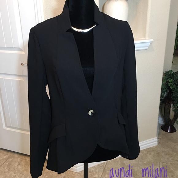 JustFab Jackets & Blazers - Black Blazer/Jacket Size Large